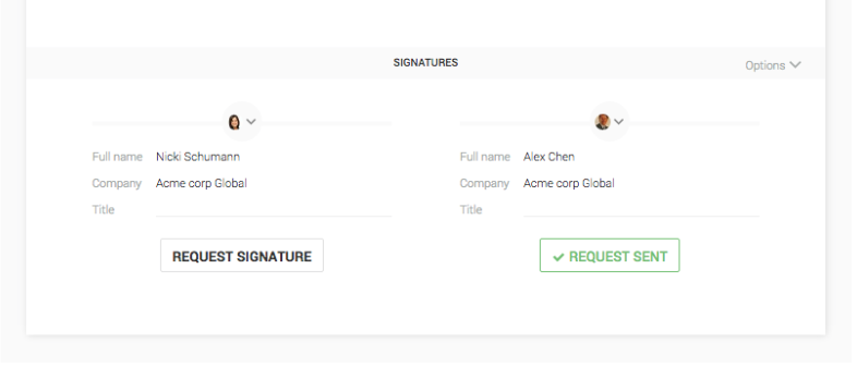 note first invite your third party to join your document via the share button when the signer has joined the contract and the document is finalized and